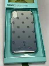 Kate Spade Polka Dot iPhone X Case Silver Glitter Dots Ombré Background  ~ NIB