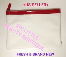 Clarins Super Size Flat Makeup Cosmetic Zipper Pouch Bag Travel Case Brand New