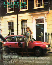 Vauxhall Nova & Astra Advertising Supplement 1988 UK Market Foldout Brochure
