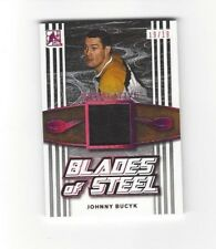 Johnny Bucyk 2017 Superlative Blades of Steel LEATHER SKATE SP 19/19 HOF Bruins