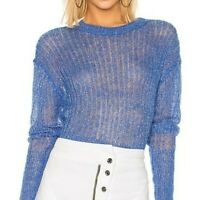 NWT Rta Womens Sweater Mohair Gilda Cobalt Blue Extra Small (LG2)