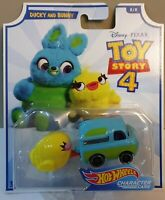 HOT WHEELS 2019 DISNEY PIXAR TOY STORY 4 CHARACTER CARS DUCKY AND BUNNY 8/8