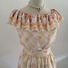 LIZ LISA Dress Gingham Check  Floral Kawaii Japanese Gyaru Fashion Hime