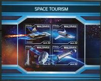 MALDIVES 2018 SPACE TOURISM SHEET MINT NEVER HINGED