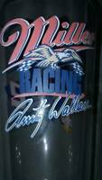 VINTAGE Rusty Wallace #2 Miller Lite Racing NASCAR and miller lite glass