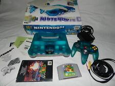 Nintendo 64 Konsole Clear Blue + Super Mario + Karton +  Zubehör,  Getestet!