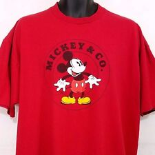 Mickey and Co Camiseta Vintage Mickey Mouse Disney Rojo Hombre Talla XL