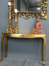 French Provincial Long Sideboard Table Dresser Bathroom Antique Carved Gold