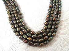Zuchtperlen Strang 44 cm !!! Süßwasser Perlen Schmuck Halsketten 8-9 mm barock