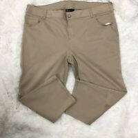 Lane Bryant 24 Jeans Cropped Capri Beige Straight Leg