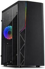 Inter-Tech B-02RGB Gaming Tower  Midi-Tower ATX, mATX  1 x USB 3.0 schwarz