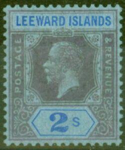 Leeward Islands 1922 2s Purple & Blue-Blue SG74 Fine Very Lightly Mtd Mint