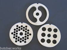 #10 & #12 Kit 3-pc Stainless Meat Grinder Sausage Maker Plate