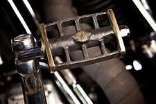 Harley kick pedal with logo, brass handmade