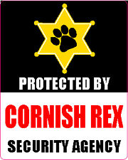 Protected By Cornish Rex Security Agency Sticker