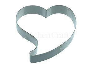 Kitchencraft Large Heart Love Shape Metal Biscuit/Cookie Cutter. Home Baking