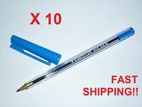 Staedtler ballpoint pen stick 430 Medium Blue pack of 10