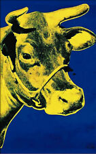 Yellow Cow on Blue (large) Andy Warhol Art Print Offset Lithograph Poster 51x32