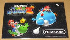 Super Mario Galaxy 2 promo Wii Fridge Magnet Set Nintendo 2010