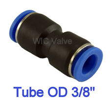 Straight Union Pneumatic Push In To Connect Air Fitting Tube OD 3/8
