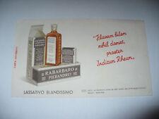 RARA CARTA ASSORBENTE PUBBLICITARIA RABARBARO PIERANDREI ANNI /'30