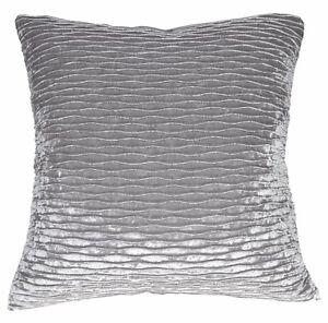 mp02a Silver Grey Folds Pattern Shimmer Velvet Cushion Cover/Pillow Case Custom