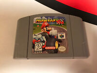 Mario Kart 64 (Nintendo 64, 1997) N64 Video Game Cartridge Retro Racing Party