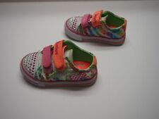Sketchers Girls Toddler Multicolored Sneakers Hook and Loom Size 6 GUC