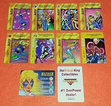OVERPOWER Dazzler SET hero Classic 7 sp 1 Marvels Absorb Sound Focus Energy
