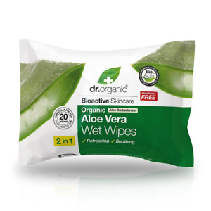 Dr.Organic Organic Aloe Vera Wet Wipes Fragrance Free 20 wipes