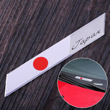 3D Metal Japan Japanese Flag Emblem Badge Car Motorcycle Decor Sticker 9.8x1.4cm
