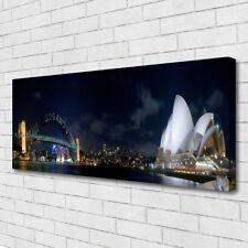 Canvas print Wall art on 125x50 Image Picture Sydney Bridge City Architecture