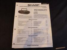 Original Service Manual Sharp WQ-CD220L