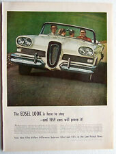 Edsel Auto Ad White Convertible 1959