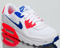 Nike Air Max 90 Ultramarine Women's White Racer Blue Lifestyle Sneakers Shoes