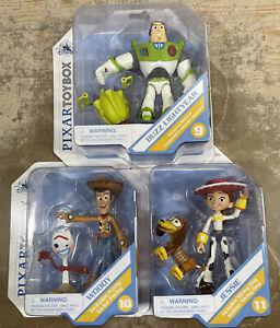 Disney Store Pixar Toybox Toy Story Buzz Blaster Woody & Forky Jessie & Slinky