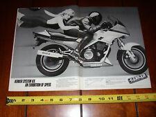 1984 YAMAHA FJ1100 KERKER GIRL - ORIGINAL 2 PAGE AD