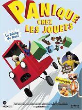 Affiche 120x160cm PANIQUE CHEZ LES JOUETS (2014) Joel Simon - animation NEUVE
