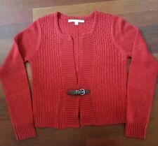 Women's Cardigan Sweater Wool Alpaca Red Brown Buckle Close XL NWOT Max Studio