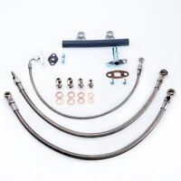 Turbocharger Oil Water Line Kit Nissan RB30 VL w/ Factory T3 (16mm Water Hole)