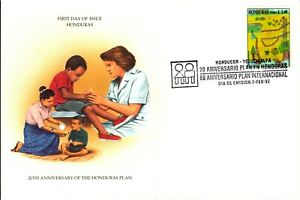 Nice lot of 3 clean unaddressed FDC's from Honduras - check out the scans Lot864
