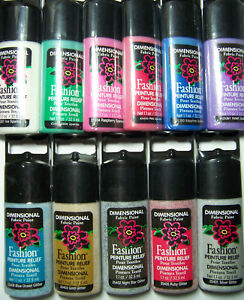 Plaid Fashion Fabric Paint 1.1oz Writer Tip - Dimensional, Washable & Non-toxic