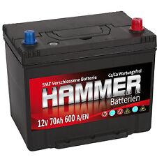 Autobatterie Hammer 12V 70Ah +Rechts Asia Starterbatterie ersetzt 72 74 75 80 Ah