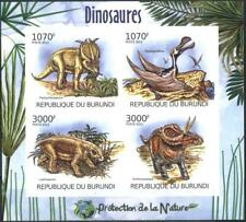 Mint stamps imperforate miniature sheet  Fauna Dinosaurs 2012 from Burundi avdpz