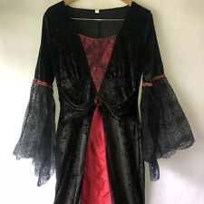Womens Halloween Vampire Costume Adult Witch Fancy Dress Witch Outfit Sz XL EUC