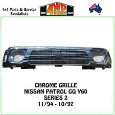 GRILLE CHROME suits Nissan GQ Patrol Y60 Series 2 11/94-1997