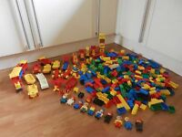 Large bundle of Vintage Lego Duplo Bricks Boat Plane Zoo Car Train People