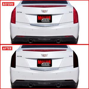 FOR 13-18 Cadillac ATS Sedan Tail Light & Reflector SMOKE Precut Vinyl Tint