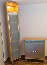 Hülsta 2 Vitrinen / Hochschränke und ein Sideboard / Schrank buche