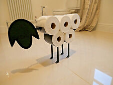 Novelty Sheep Toilet Roll Holder Bathroom Tissue Ornament Free Standing Metal